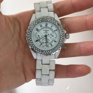 CHANEL WATCH WHITE J12 DIAMONDS
